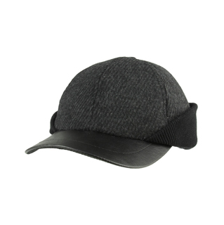 3508-Men's Wool Cap W/Warmer Flap