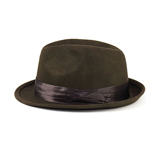 2519-Men's Wool Felt Fedora Hat