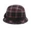 Back - 8944-Infinity Selections Wool Plaid Cloche Hat