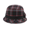 Front - 8944-Infinity Selections Wool Plaid Cloche Hat
