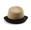 Back - 8950-Infinity Selections Raffia  Fedora Hat