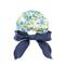 Back - 7671A-Ladies' Printed Flower Large Peak Hat