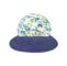 Front - 7671A-Ladies' Printed Flower Large Peak Hat