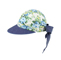 Side - 7671A-Ladies' Printed Flower Large Peak Hat
