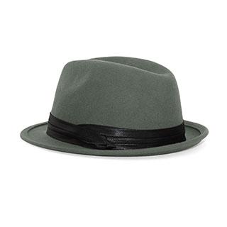 2519-Men's Wool Felt Fedora Hat