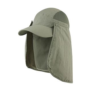 J7239-Juniper Taslon UV Cap w/ Removable Neck Flap