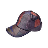 Multi-Color Cut & Sewn Lambskin Cap