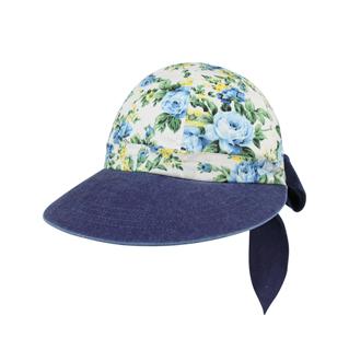 7671A-Ladies' Printed Flower Large Peak Hat