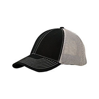 6896-6 Panel (Str) Brushed Cotton Fitted Mesh Back Cap