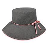 Ladies' Linen Wide Brim Hat