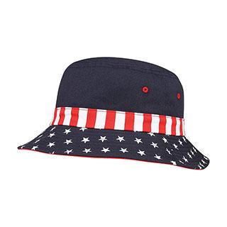7801F-USA Flag Bucket Hat