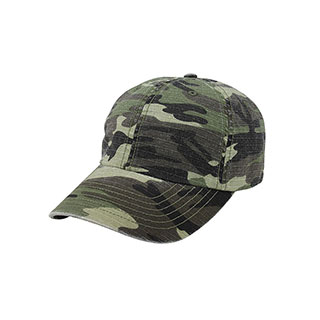 9031C-Low Profile (Unstructured) Washed Camouflage Cap