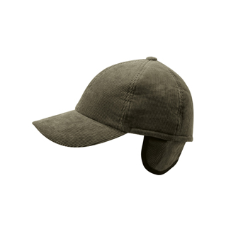3509-Men's Corduroy Winter Cap W/Warmer Flap