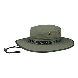 J7265-Taslon UV Sun Hat w/Jacquard Ribbon