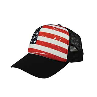 6801F-USA Trucker Cap