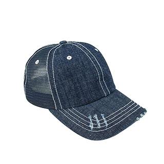 6990B-Denim Mesh Cap