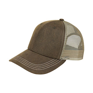 6846-Deluxe Wax Cotton Trucker Cap