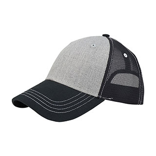 6850-Deluxe Wool Look Twill Trucker