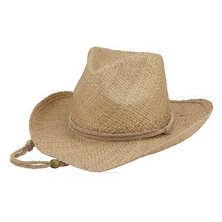 8243-Outback Raffia Cowboy Hat