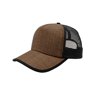 8411C-Straw Trucker Cap