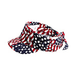 USA Flag Printed Visor/Kerchief