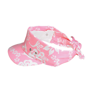 6530C-Hawaiian Flower Print Visor/Kerchief
