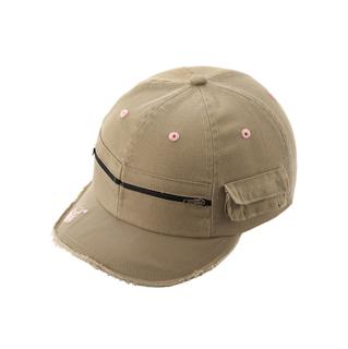 6545-Army Style Fashion Cap W/Frayed Bill