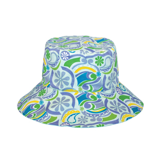 6556-Ladies' Floral Reversible Bucket Hat