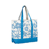 Canvas Flower Print Tote Bag