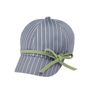 6592-Ladies' White Stripe 6 Panel Cotton Twill Cap