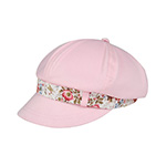 Ladies' Peach Finish Brushed Cotton Newsboy Cap