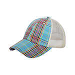 Low Profile (Uns) Plaid Mesh Cap