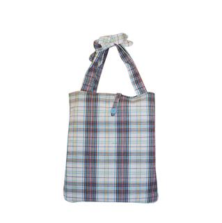 1515-Fashion Plaid Beach Tote Bag