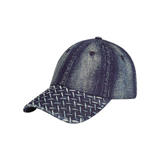 6889A-Diamond Plate Washed Cap
