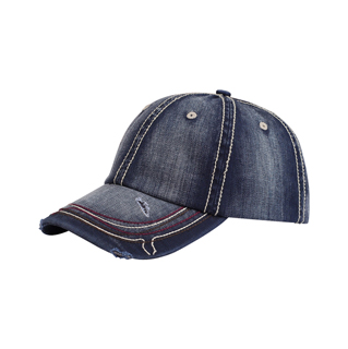 6890-Low Profile (Uns) Heavy Washed Herringbone Cap