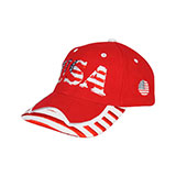 Youth Low Profile (Str)  USA Flag Heavy Brushed Twil Cap