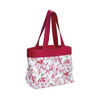 1518-Floral Beach Tote Bag