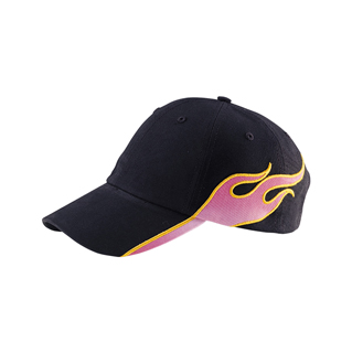 6953-Ladies' Brushed Cotton Twill Flame Cap