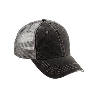 6990-Washed Herringbone Cotton Twill Trucker Cap