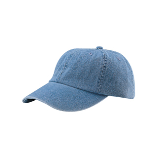 7610-Low Profile (Uns) Denim Garment Washed Cap
