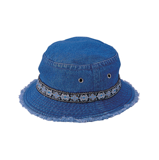 7871-Denim Washed Bucket Hat