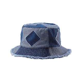 7890Y-Youth Cut & Sewn Denim Washed Bucket Hat