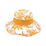 Cotton Canvas Flower Print Bucket Hat