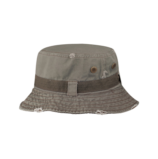 7917-Frayed Cotton Twill Washed Bucket Hat