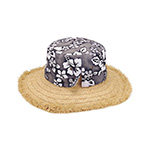 Hawaiian Flower Print Straw Hat