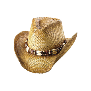 8155-Outback Tea Stained Straw Cowboy Hat
