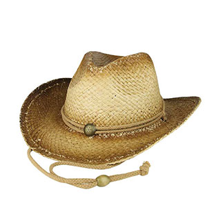 8158-Outback Tea Stained Raffia Straw Cowboy Hat
