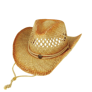 8174-Outback Tea Stained Straw Cowboy Hat