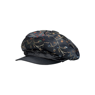 2121-Satin Tapestry Newsboy Cap
