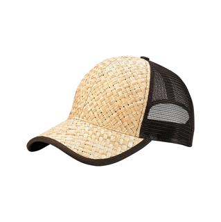 8411-Straw Trucker Cap